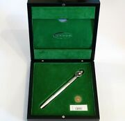 Cross Limited Edition 50 Yrs Of Tennis Sterling Silver Fountain Pen With 18k Nib