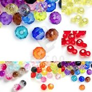 Round Acrylic Transparent Faceted Beads Jewelry Making 13x8x8mm/8x8x5mm/8x8x8mm