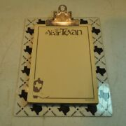 Vintage The Year Of The Texan Notepad With Texas State Clear Clipboard 9 X 7