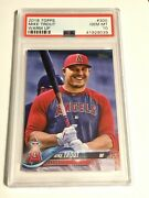 2018 Topps Mike Trout Warm Up Image Variation 300 Sp Los Angeles Angels Psa 10