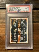 1954 Topps Scoop Babe Ruth Sets Record W/coating 41 Psa 2 🔥🔥only 8 Graded🔥🔥