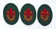 1960and039s United Kingdom Uk / British Scouts - Boy Scout Bs Hat Badge 3 Var