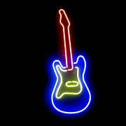 Acoustic Electric Guitar Music Neon Lamp Sign 14x7 Acrylic Bright Lighting