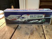 1997 Hess Toy Truck And Racers Mint New Nib