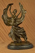 Real Solid Bronze Flamenco Dancer Sculpture Art Nouveau Figurine Lost Wax Decor