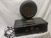 Vintage Atwater Kent Model 55 Receiving Radio With Type F4 Speaker. Complete.