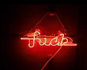 Fvck Red Neon Lamp Sign 14x4 Acrylic Bright Lighting Artwork Glass Decor Hang