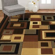 Home Dynamix Catalina Virginia Abstract Area Rug Geometric Black/brown 5and0393x7and0392