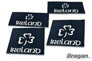 Mud Flaps For Front And Rear Uv Rubber Shield Ireland Logo Mud Guards 4pc Set