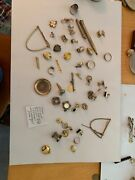 Junk Drawer Lot Of Old Gold Filled Items . At Least 90 Many Resellable