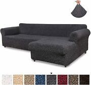 Sectional Sofa Cover - Sectional Couch Covers - L Couch Cover - Soft Polyester F