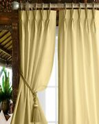 Magic Drapes Polyester Blackout Triple Pinch Pleated Panels And Curtains For Bedro
