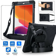For Ipad Air 3rd 2019 Pro 10.5 Ipad 7 Hybrid Rugged Armor Strap Case Cover Stand