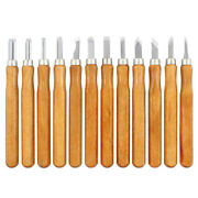 12pcs Wood Carving Set Woodworking Carving Chisel Tool For Beginner Carver New