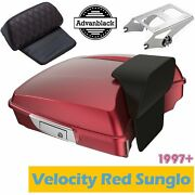 Velocity Red Sunglo Razor Tour Pack Trunk Luggage Backrest Fits 1997+ Harley
