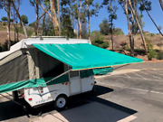 9ft Awning Green, Pop Up Tent Trailer, Camping Trailer, Rv. By Ez Lite Campers®
