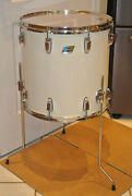 1980 Ludwig Chicago 16 White Cortex 6-ply Floor Tom For Your Drum Set Lot F852