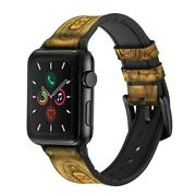 Ca0327 Buddha Bas Relief Art Graphic Printed Apple Watch Band Strap For Iwatch