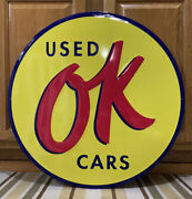 Ok Used Cars Metal Sign Garage Vintage Style Wall Decor Tools Oil Gas Bar