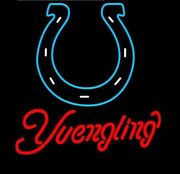 Indianapolis Colts Yuengling Neon Lamp Sign 20x16 Bar Light Beer Glass