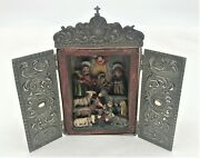 Religious Miniature Alter Nativity Sterling Silver Signed Tellapinc Guatemala