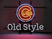 Chicago Cubs Old Style Beer Neon Lamp Sign 20x16 Bar Light Windows Glass Decor