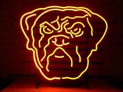 Cleveland Browns Neon Lamp Sign 20x16 Bar Light Beer Glass Windows Display