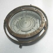 Wwii Dated 1940 Us Navy Military Nautical Ship's Gimble Compass Vintage Maritime