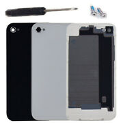 For Iphone 4 4g 4s Battery Cover Back Door Rear Glass + Screws+replacement Tools