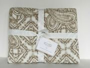 Pottery Barn Paulina Paisley Euro Sham Simply Taupe Sold Out At Pottery Barn New