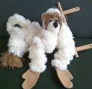 Puppet/marionette Monkey Anti-tangle Design.18 H Made From Pompoms. Boxed