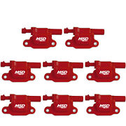 Msd 82658 8-pack Ignition Coil Pack Blaster Ls Red For Gm Ls-series