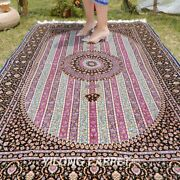 Yilong 4and039x6and039 Purple Silk Rugs Handmade Carpet Patchwork Hand Knotted Mat 232a