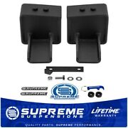5 Tall Rear Lift Blocks W/ Bump Stop Landings For 04+ Ford F150 2wd 4wd