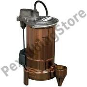 Automatic Sump/effluent Pump W/ Vertical Float Switch, 10' Cord, 3/4 Hp, 115v