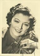 Myrna Loy Hollywood Silent Film Theater Stage Actress Antique Hand Signed Photo