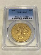 1850 Xf45 Pcgs Liberty Double Eagle 20 Gold Coin Very Nice Coin