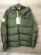 Fabletics Womens Size Xl/12-14 Military Green/citron Voyage Puffer Coat New