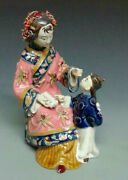 Oriental Chinese Ceramic / Porcelain Dolls Figurine - Mother And Child Kid Happine