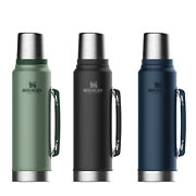 New Stanley Classic Vacuum Insulated 1.0 L Bottle Thermos Flask Black Green Navy