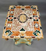 3and039x4and039 Marble Dining Table Top Precious Stone Mosaic Inlay Home Decorative E598