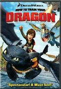 How To Train Your Dragon 2010 Movie Dvd New Gerard Butler And Jonah Hill Animated