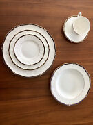 Wedgwood China Royal Lapis 6 Piece-place Settings Service For 12