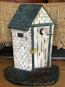 Extremely Rare Antique Cast Iron Outhouse Doorstop