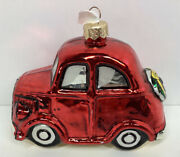 Nordstrom Poland Blown Glass Red Car Ornament