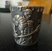 Pewter Glass Shot Bar Elf Elves World Of Warcraft Orc Lord Of The Rings Axe