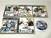 Ncaa Football 09 11 And Madden Nfl 10 11 12 13 Playstation 3 Ps3 Video Game Lot