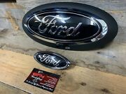 20-21 F250 F350 F450 Superduty Custom Painted Ford Front And Rear Emblem Oval Set