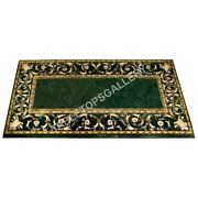 6and039x3and039 Marble Green Dining Table Top Marquetry Inlay Furniture Home Decor E588b