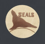 1946 San Francisco Seals Logo Cloth Patch Extremely Rare Uncataloged Pcl Champs